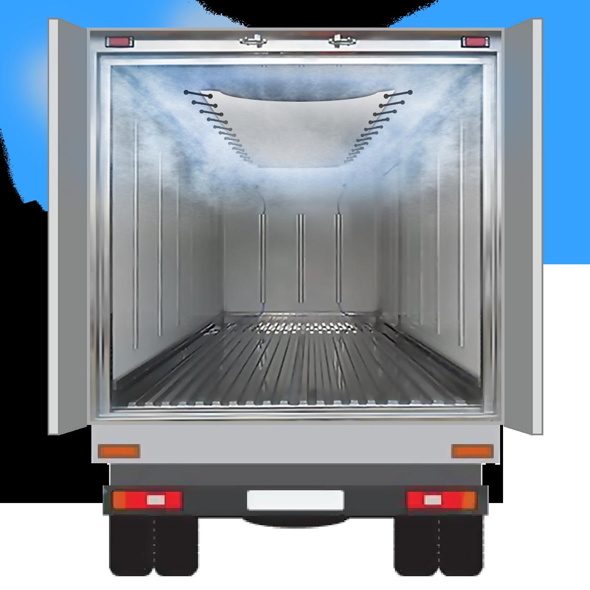 Обеспечивают распределение потоков воздуха по всему объему фургона